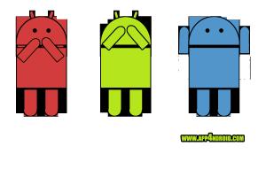 Humor gráfico sobre los tres monos sabios version android
